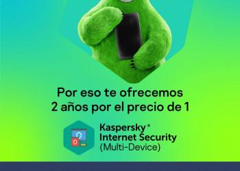 ¡Promoción! Kaspersky Internet Security 2 años por el precio de 1 + Instalación gratis y remota
