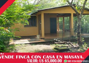 GANGA VENDO FINCA CON CASA EN MASAYA.