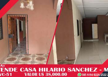 SE VENDE CASA – INMUEBLE CENTRICA EN MANAGUA.