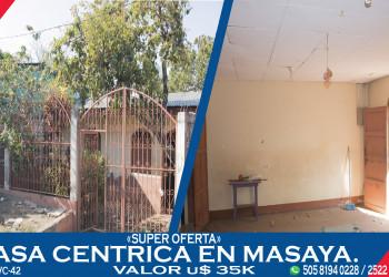 SUPER OFERTA VENTA DE CASA EN MASAYA