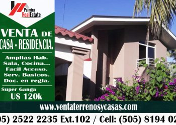 venta de casa residencia en ticuantepe, masaya