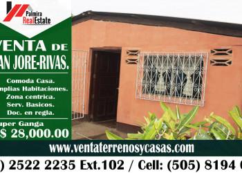 GANGA CASA EN SAN JORGE, RIVAS (COD. VCP-62)