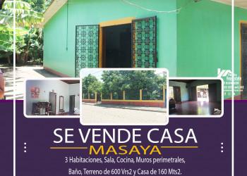 VENTAD E CASA CENTRICA EN MASAYA