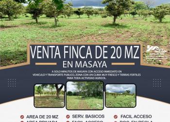 VENTA DE FINCA DE 20MZ EN MASAYA